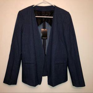 NWT | Adrienne Vittadini Open Front Blue Blazer